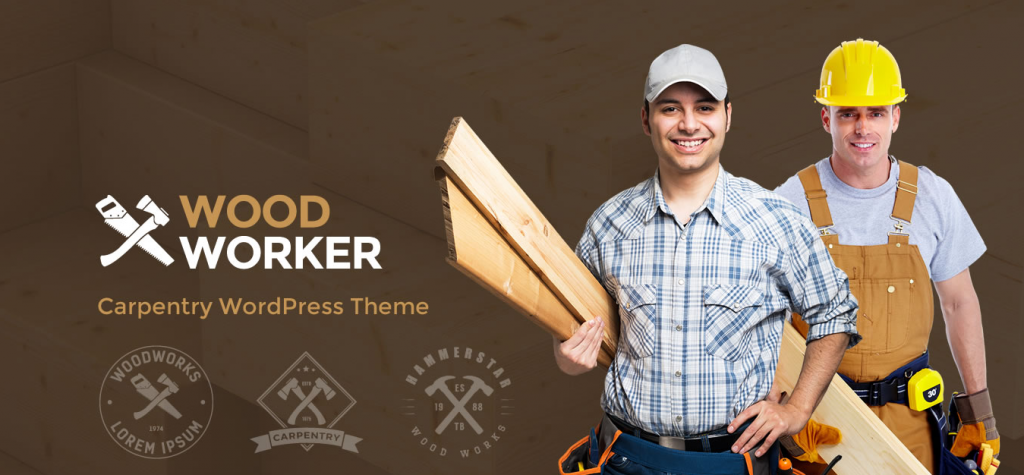 WoodWorker Carpentry WordPress Theme