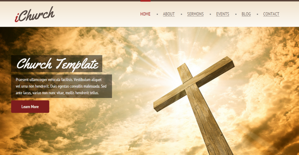 iChurch Onepage & Multipage Church Template