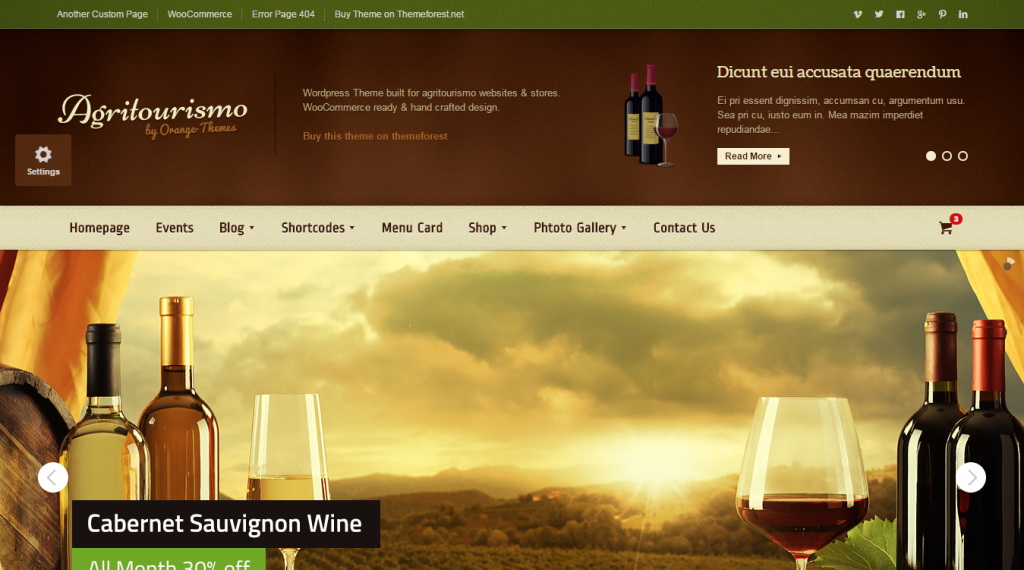 AgriTourismo Winery & Restaurant Template