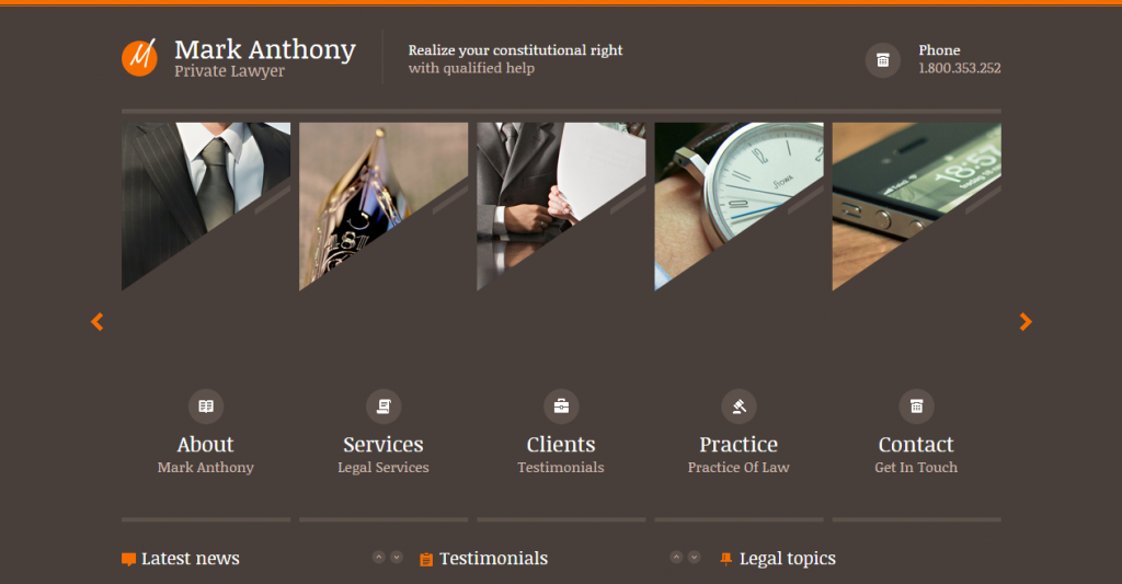 Attorney Law HTML Templates