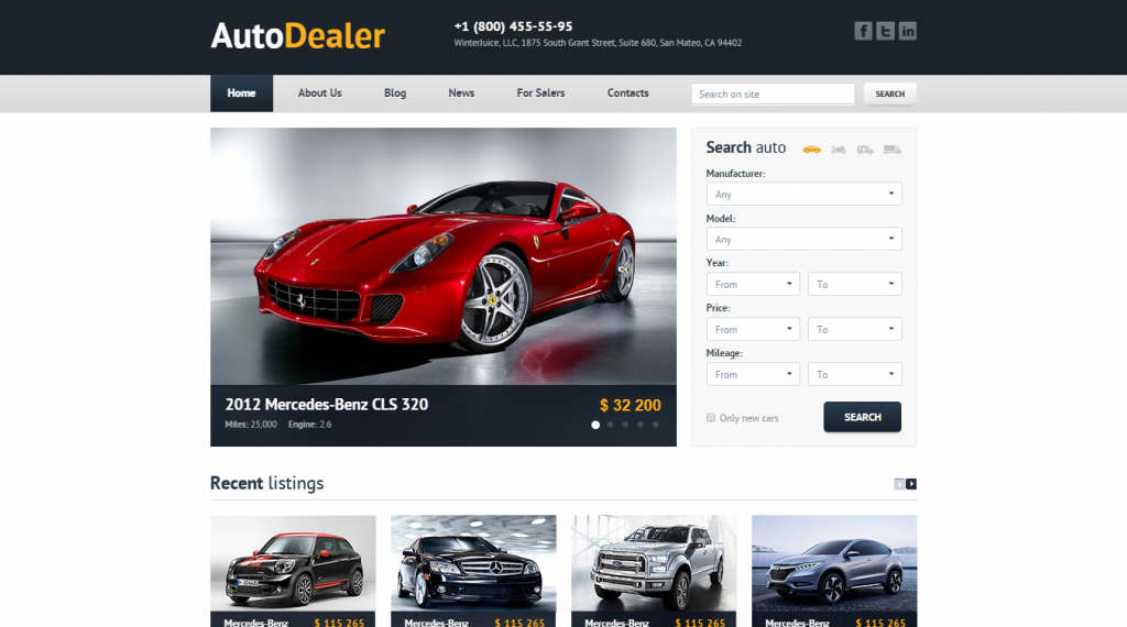 Auto Dealer Car Dealer HTML Template