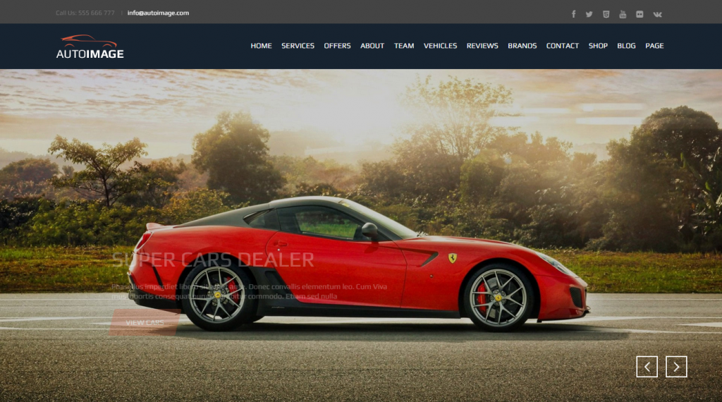 AutoImage Responsive HTML Template