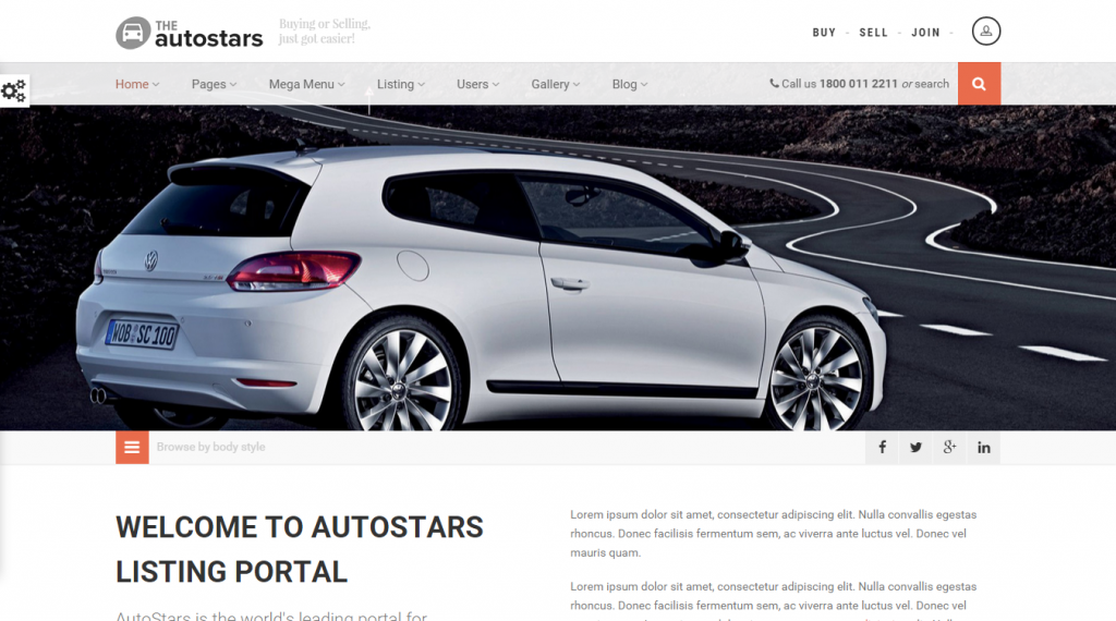 AutoStars Responsive Car Dealership Template