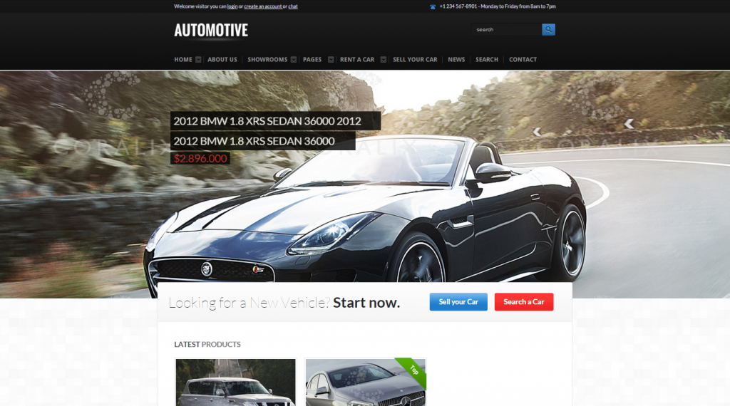 Automotive Cars Dealer Responsive