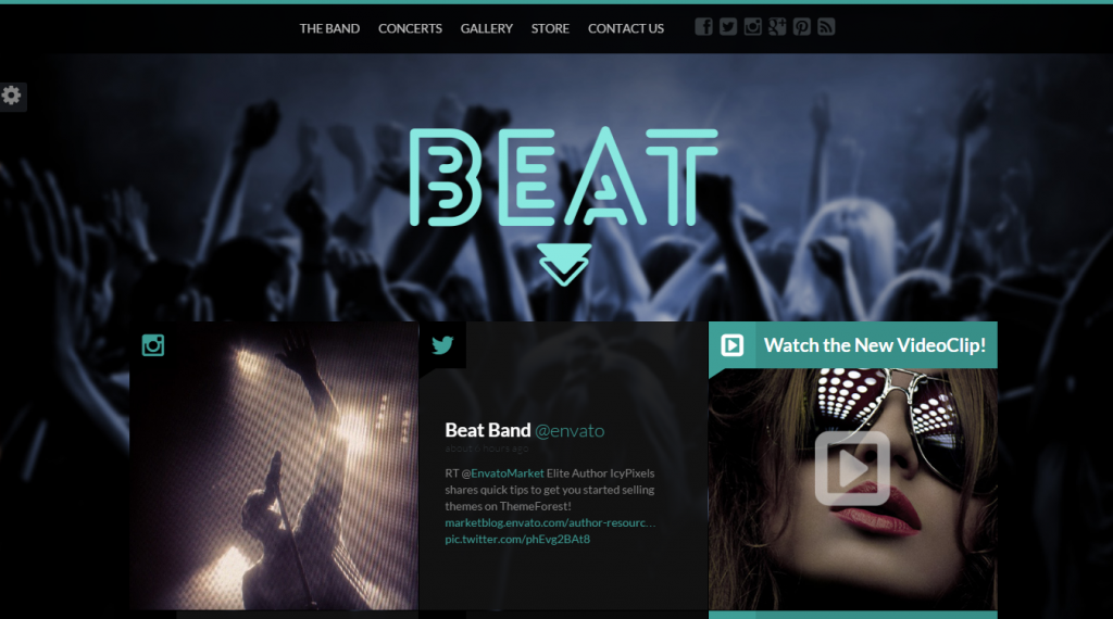 Beat One-Page HTML5 Music & Band Template