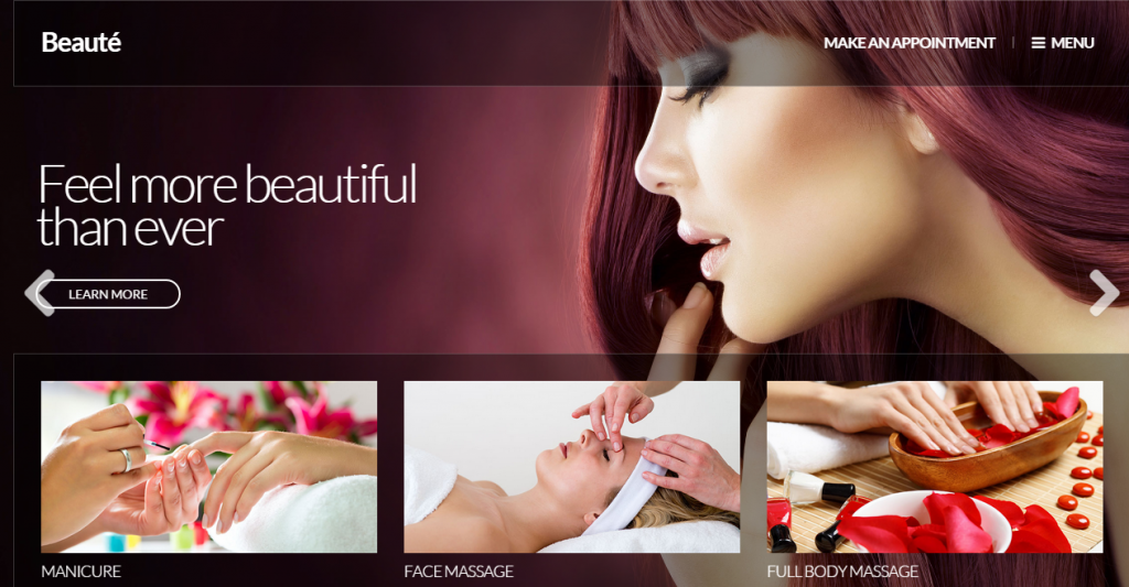 Beauté A Health & Beauty Site Template
