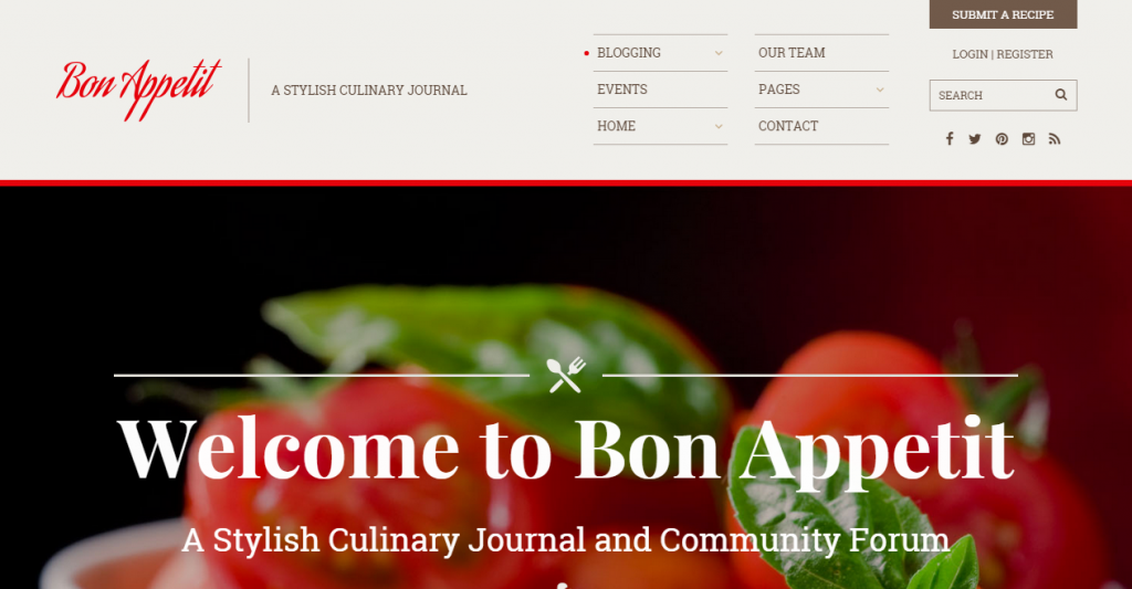 Bon Appetit A Stylish Culinary HTML Template