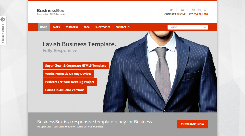 BusinessBox Corporate Business Template