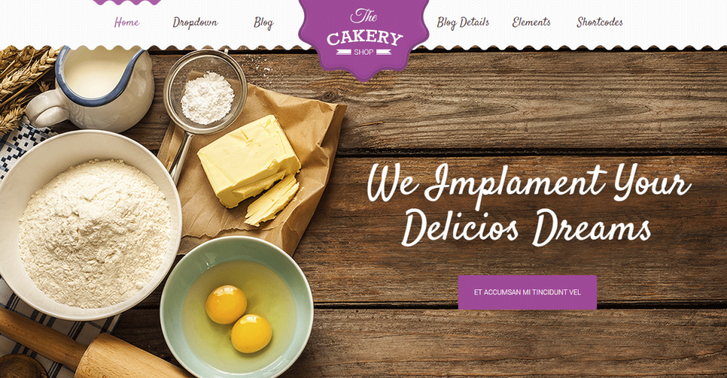 Cakery Cake and Bakery HTML Template