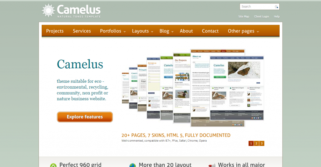 Camelus Nature Tones Business Template