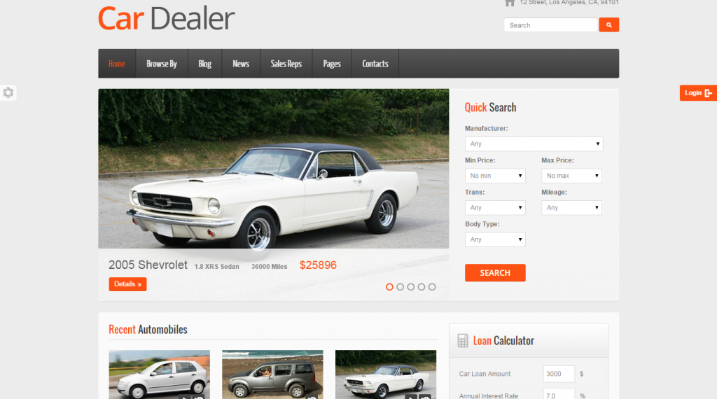 18 Best Car Dealer HTML Templates | Weelii