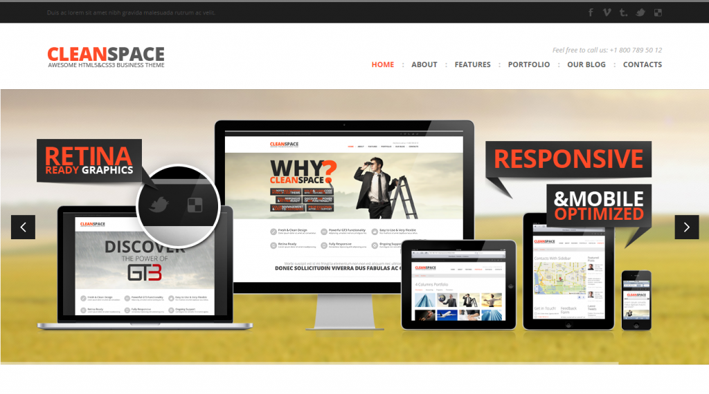 CleanSpace Retina Ready Web Template