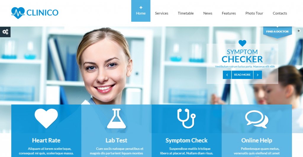 Clinico Responsive Medical and Health Template