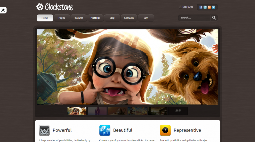 Clockstone Ultimate Website Template