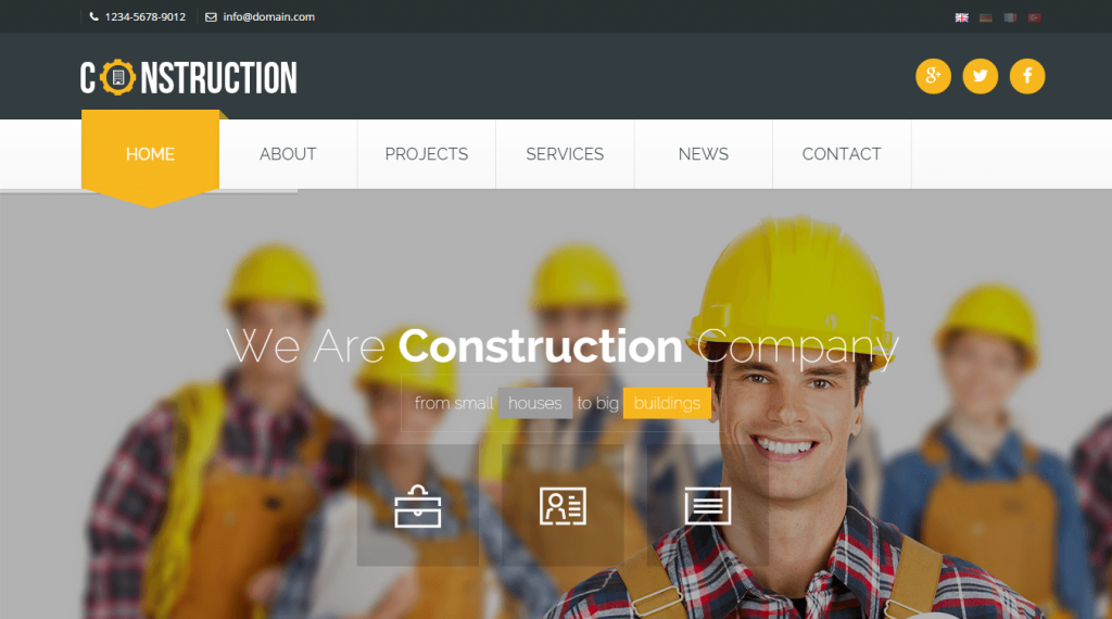 Construction Industrial HTML5 Template