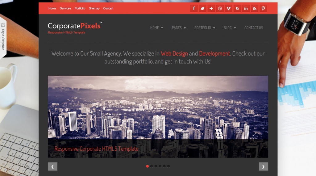 CorporatePixels Responsive HTML5 Template