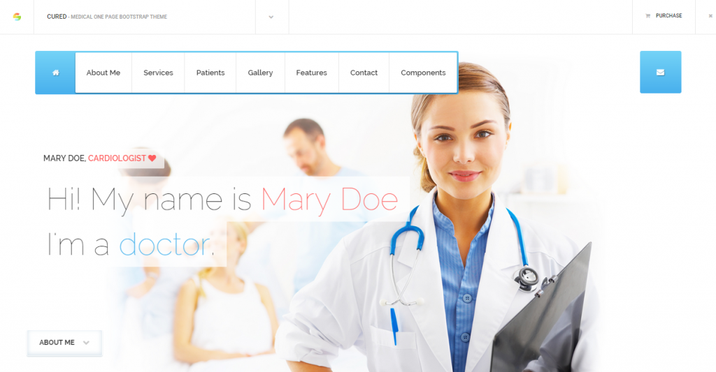 Cured Medical One Page Bootstrap HTML CSS Theme