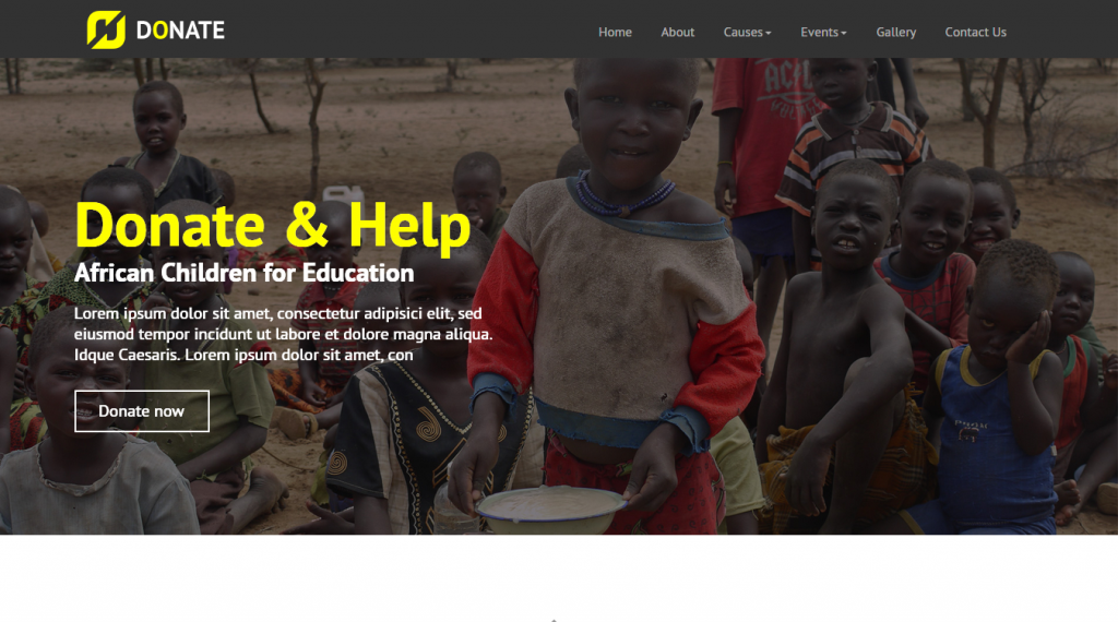 Donate Multipurpose Nonprofit HTML Site Template