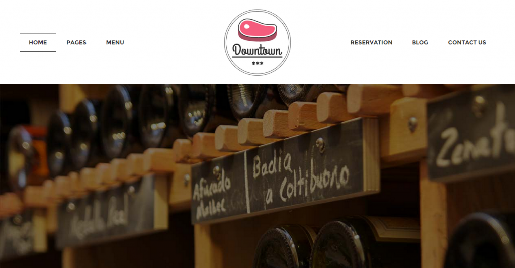 Downtown Restaurant HTML Template