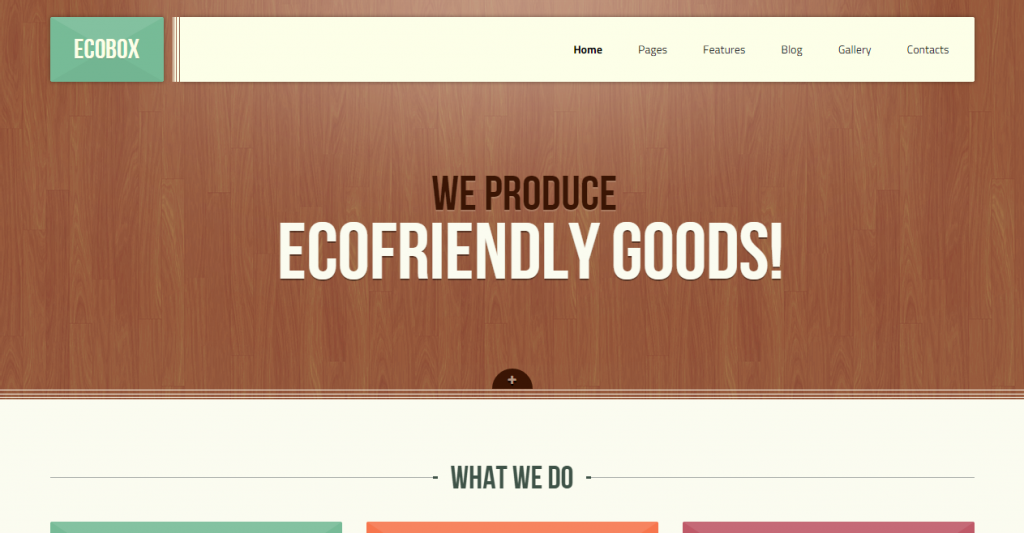 Ecobox Responsive HTML LESS Template