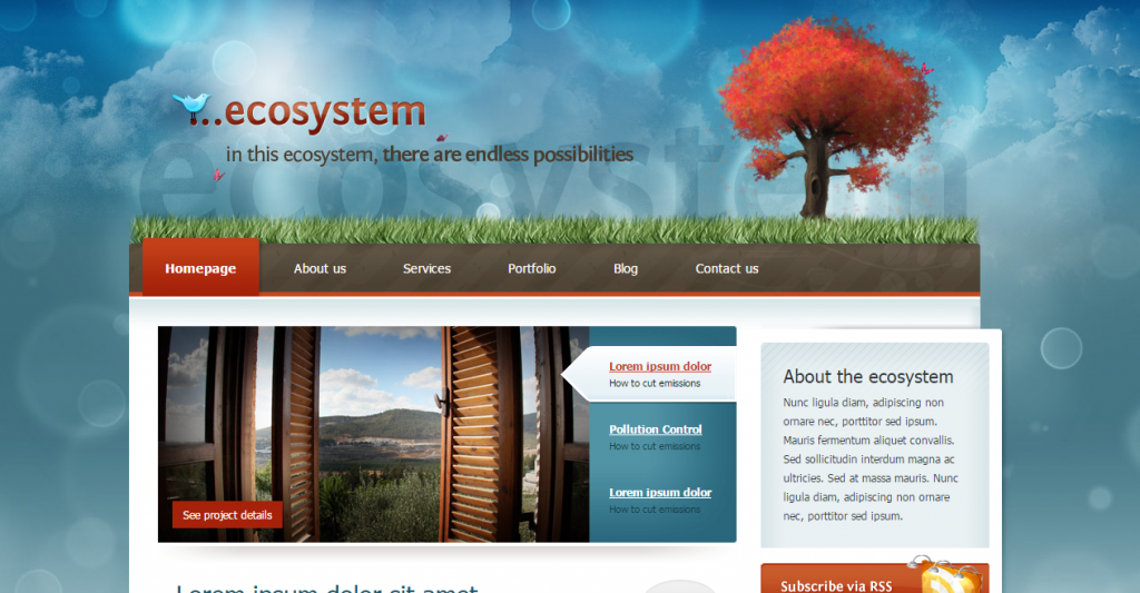 Ecosystem A versatile, full featured theme