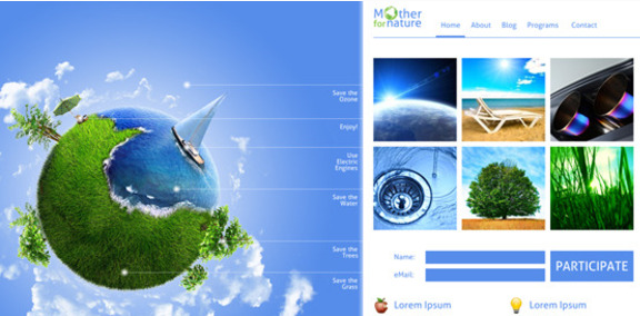 For Mother Nature Premium Eco Unique Template