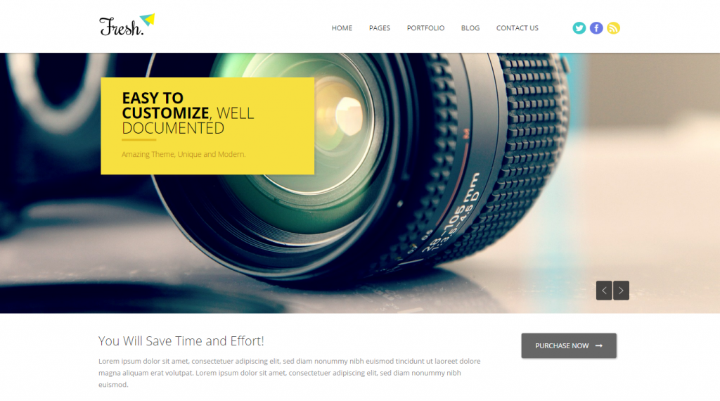 Fresh Responsive Multi-Purpose HTML5 Template