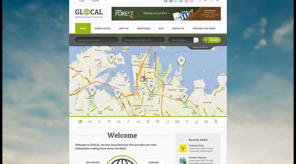 Glocal Responsive Directory Template
