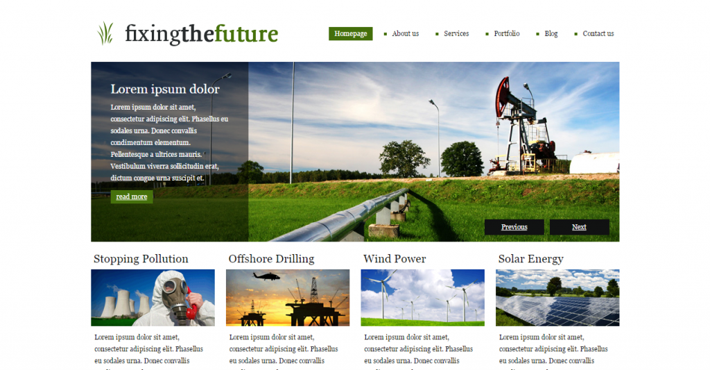 Green Future A clean, versatile, beautiful theme