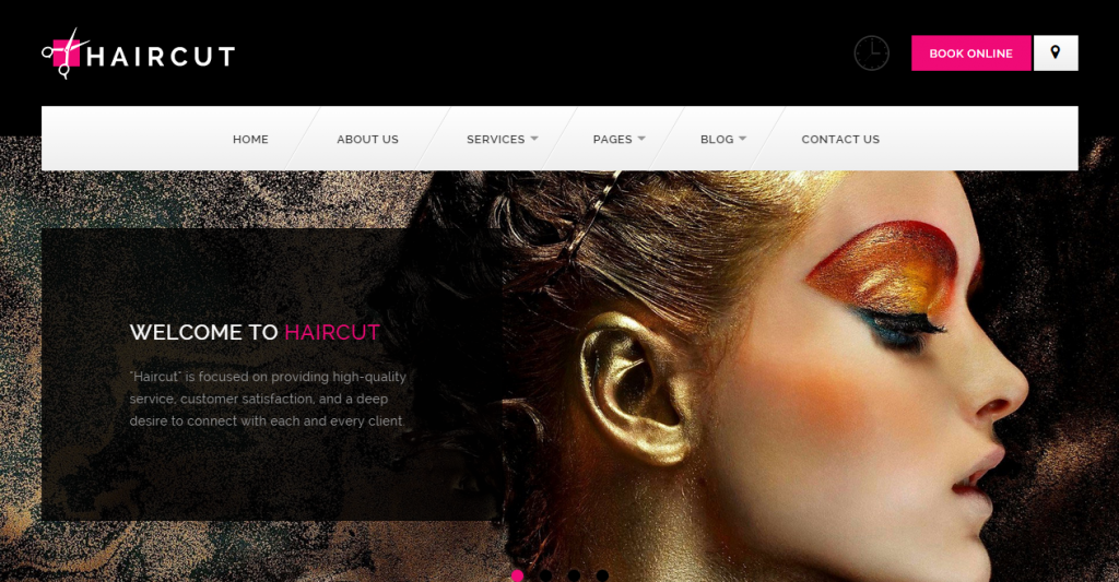 Haircut Barbershop, Spa, Beauty, Manicure HTML Template