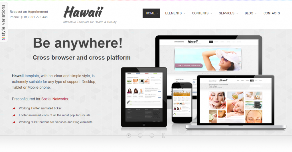 Hawaii Attractive Template for Health & Beauty