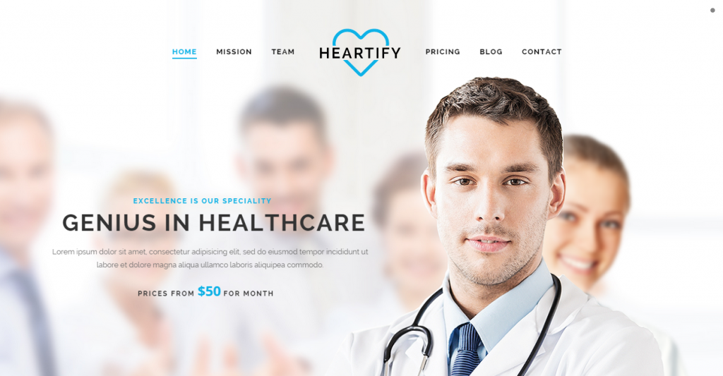Heartify Responsive Medical and Health Template