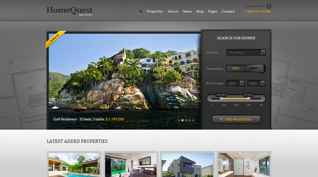 HomeQuest Real Estate HTML Theme
