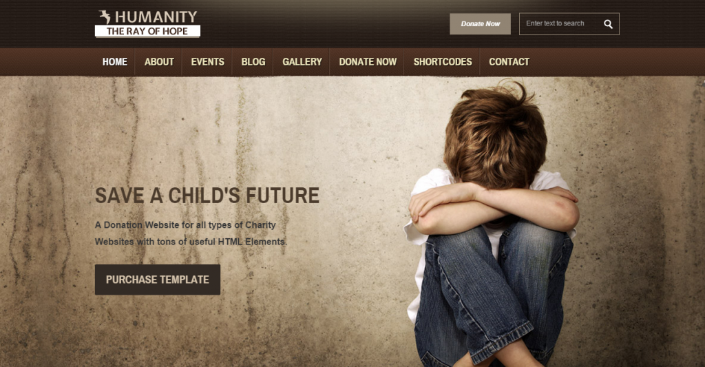 Humanity NGO & Charity HTML Template