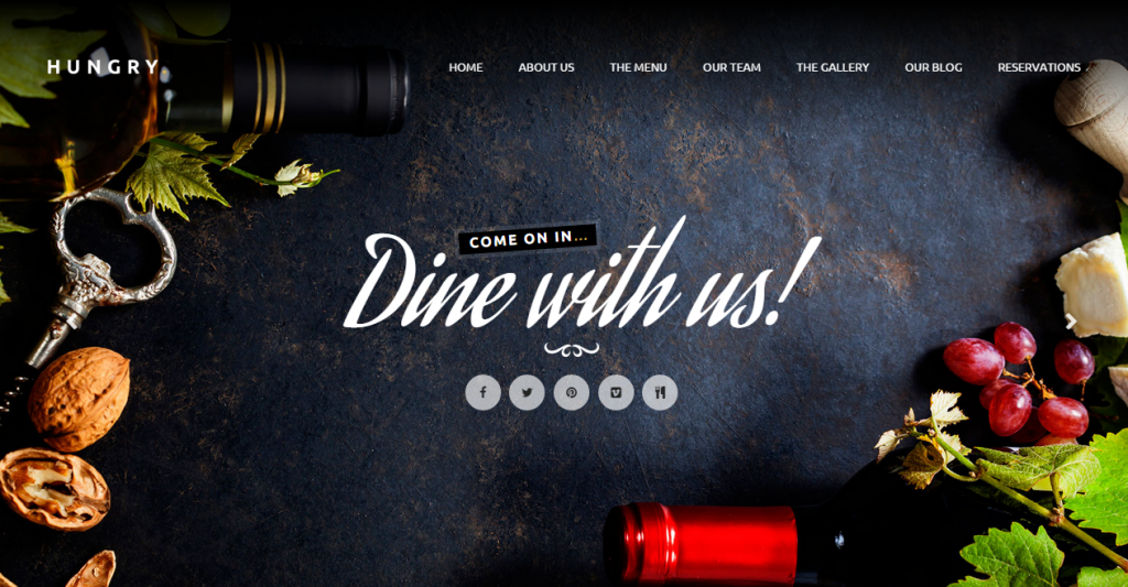 Hungry A One-Page HTML Restaurant Template