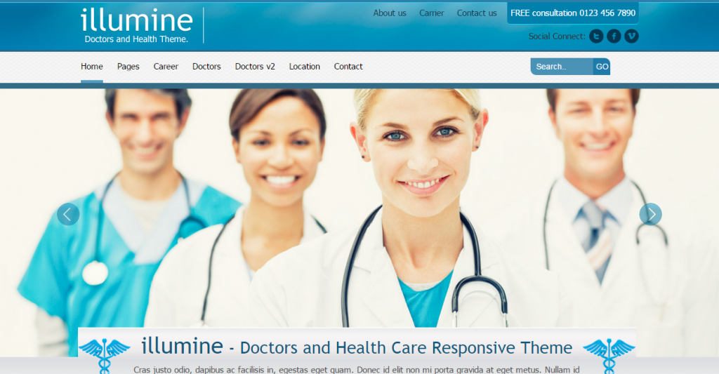 Illumine Doctors & Health Care HTML template