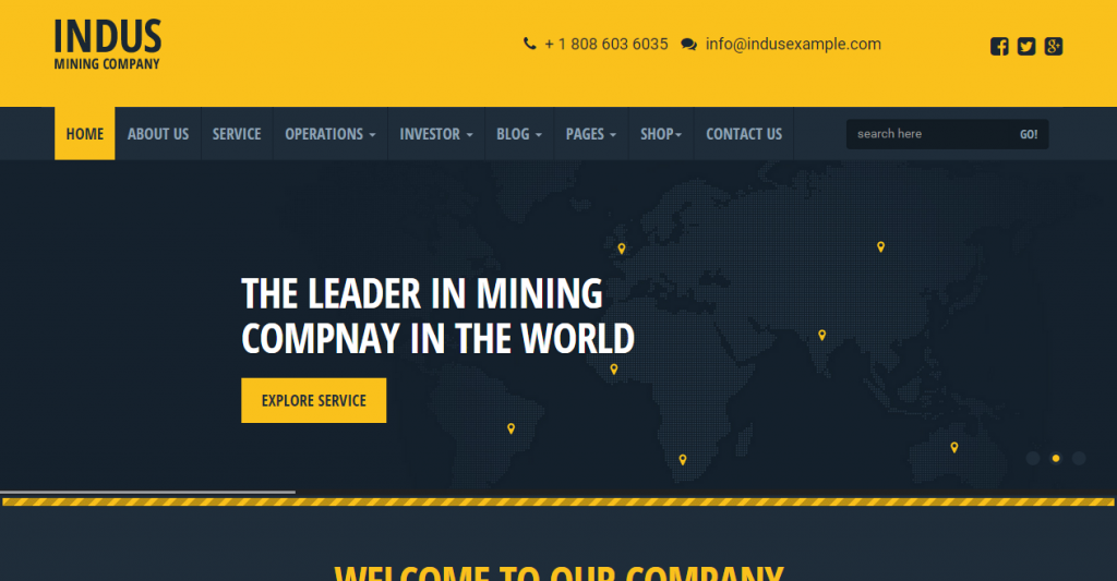 Indus Industrial HTML Responsive Templates