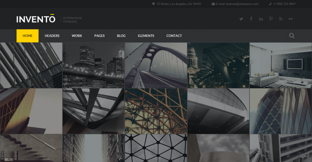 Invento Responsive Gallery Architecture Template
