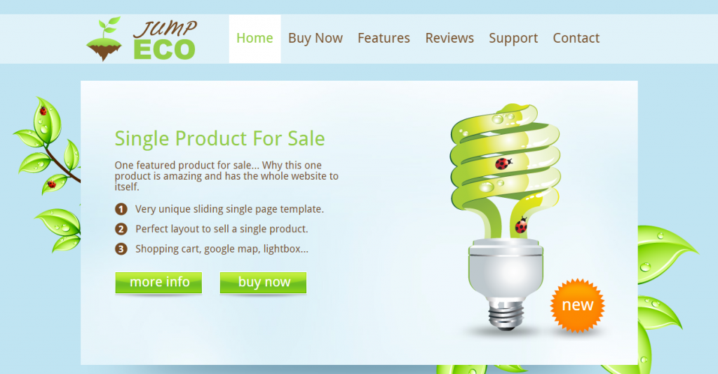 Jump Eco HTML Slider Single product shop
