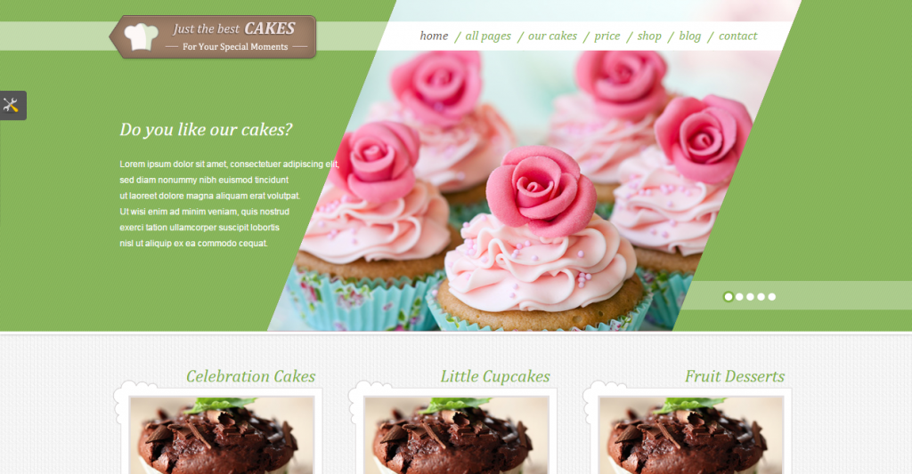 JustCakes Cake Bakery HTML template