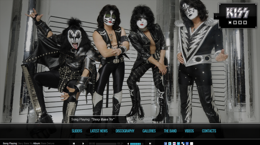 Kiss Band-Template HTML5 CSS3
