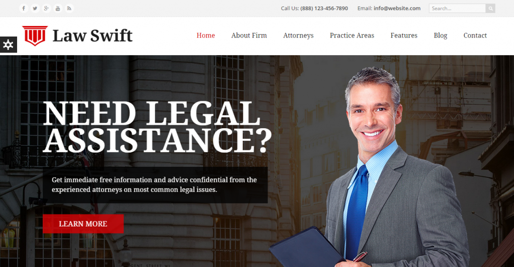 Law Swift Lawyer & Attorney - Business Respo