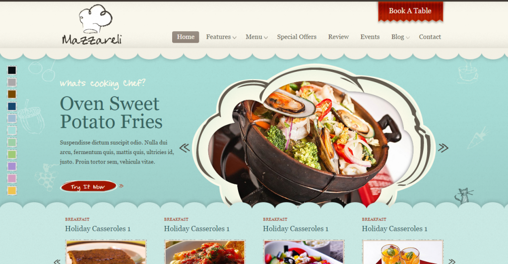 Mazzareli Restaurant & Cafe HTML Template