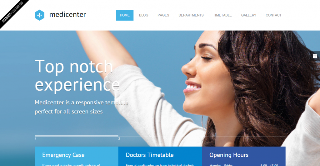 MediCenter Responsive Medical Health Template