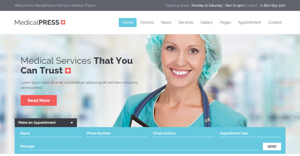 MedicalPress Health and Medical HTML Template