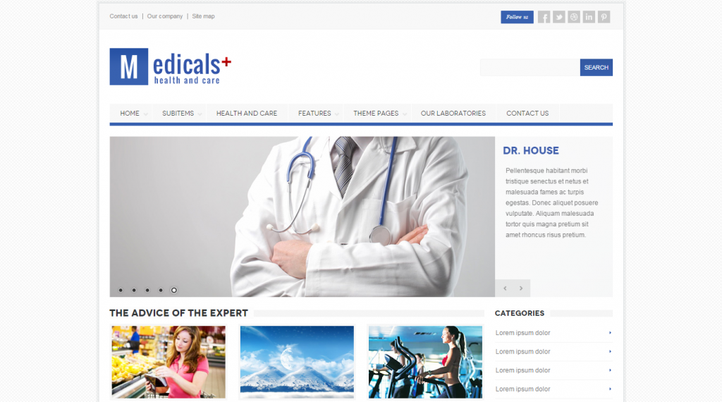 Medicals Premium Responsive Medical Template