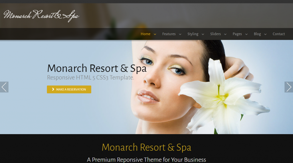 Monarch Resort & Spa - Responsive Template