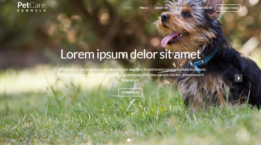 Pet Care Dog Kennels HTML