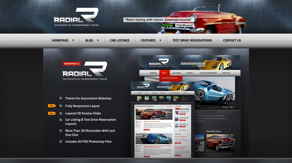 Radial Premium Automotive & Tech HTML Template