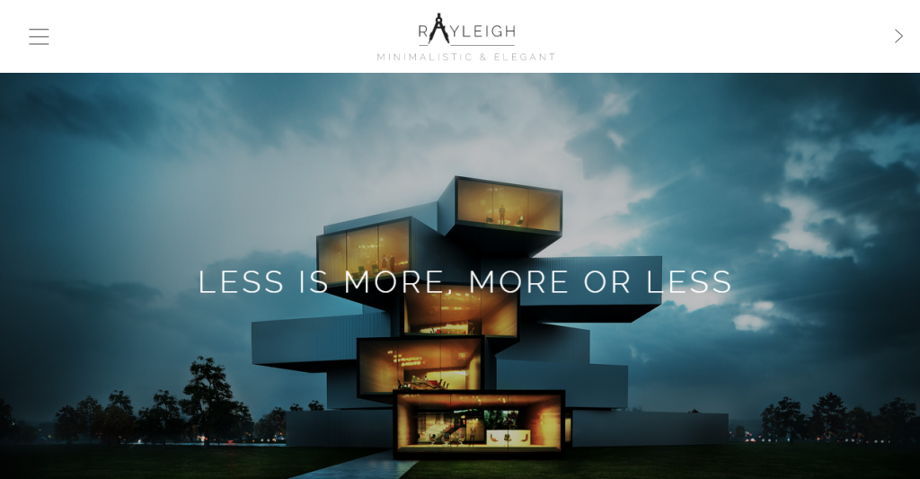 Rayleigh A Responsive Minimal Architect Template